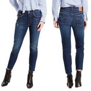 Levi's 501 High Waist Dark Denim Skinny Jeans